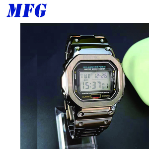 Image 3 - Kordonlu saat GWM5610 DW5600 saat kayışı kayışı durumda Metal paslanmaz çelik bilezik çelik kemer aksesuarları