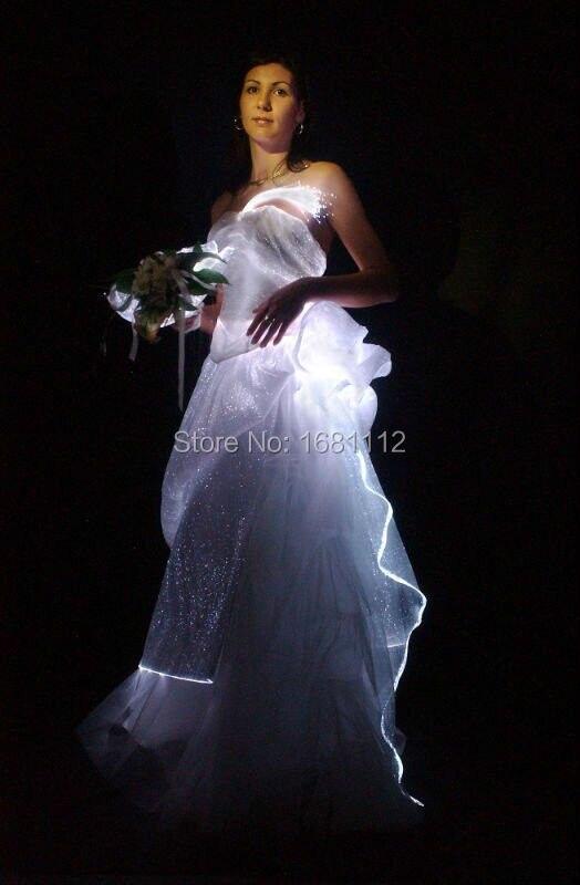 e3e95737437 Femme costume lumineux led fiber Optique lumineux robe pour soirée robe de  cocktail  ...