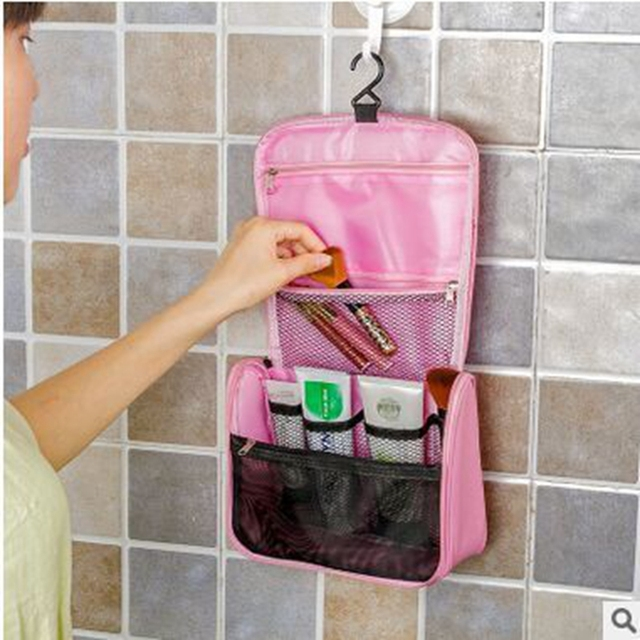 2016 Hot Sale!Large Hanging Travel Man Deluxe Toiletry Bag Wash Makeup Organizer Pouch Women Big Cosmetic Bags Bulk