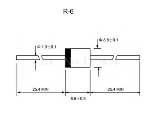 10A10 R-6 line high-voltage rectifier diode 10A 1000V MIC large current high backpressure --KSYHKJ