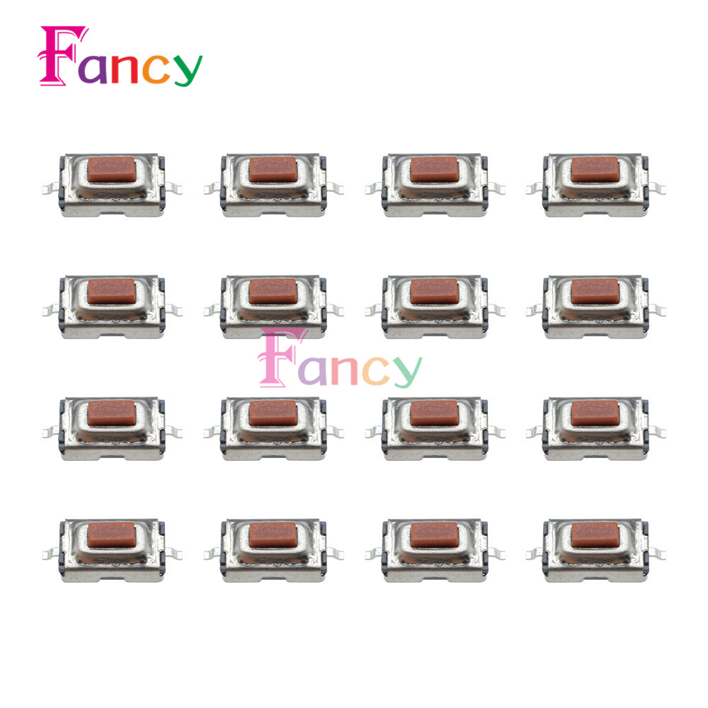 100PCS 3X6X2.5mm Tactile Push Button Switch Tact Switch Micro Switch 2 Pin SMD 50pcs 6x6x4 3mm tactile push button switch 4 pins micro switch 4 pin dip momentary touch switch
