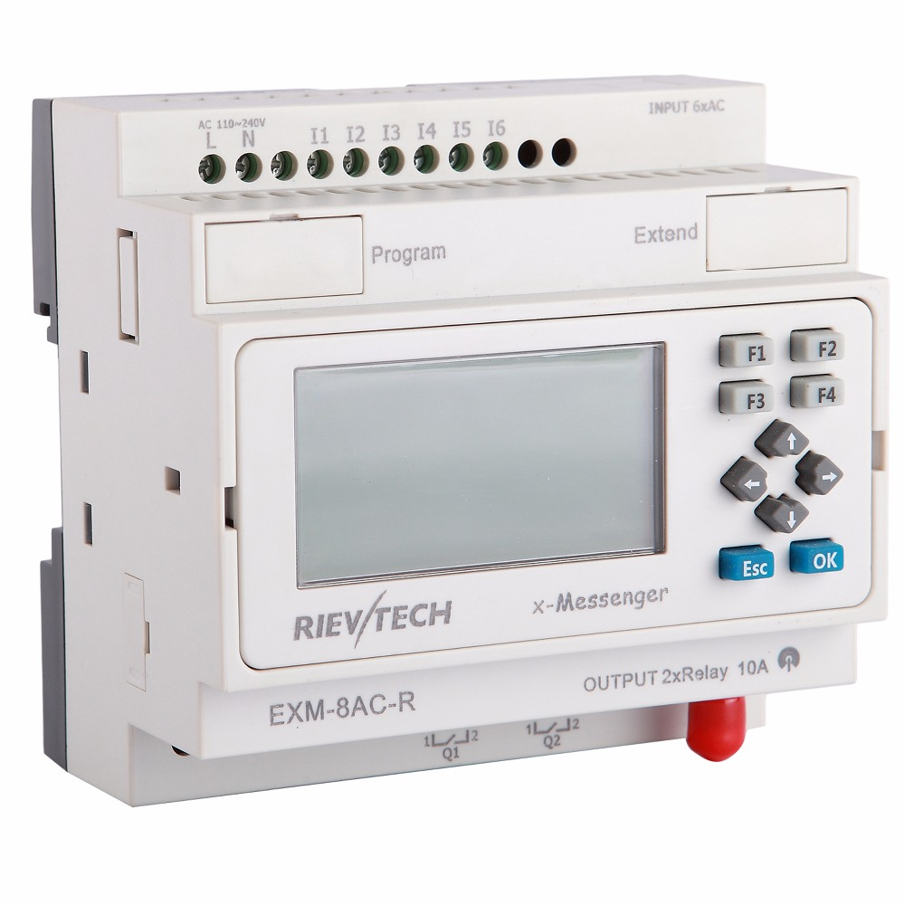 GPRS/SMS/GSM PLC,x-Messenger,latest & Innvoative Programmable Logic Controller,telemetry Controller EXM-8AC-R