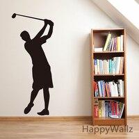 ゴルフ男壁ステッカーゴルフ壁デカールdiy取り外し可能なスポーツ壁デカールビニール壁アートs24
