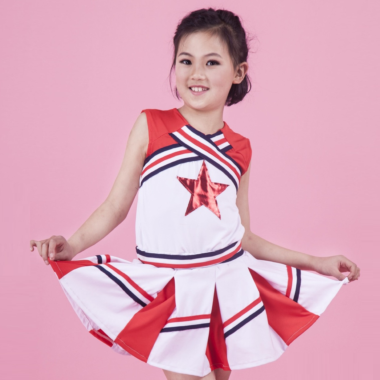 Jazz For Girls Cheerleading Costume Children Hip Hop Kids Street Dance Clothing Performance Jazz For Girls Cheerleading Costume