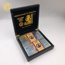 100 pz/scatola di Banconote In Oro 100 Trilioni di Dollari Zimbabwe Argento Falso Dollaro Dei Soldi Oro Replica Copia Banconote Da Collezione