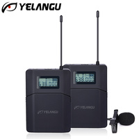 638 648MHz Dual UHF Microphone Wireless SLR Camera Video Mic 70m Professional Recording Equipment 1TX+1RX for DSLR & Smarphone