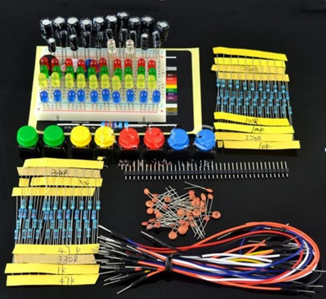 1 set Starder Kit for Arduino Resistor ,LED, Capacitor ,Jumper Wires ,Breadboard resistor Kit with Retail Box