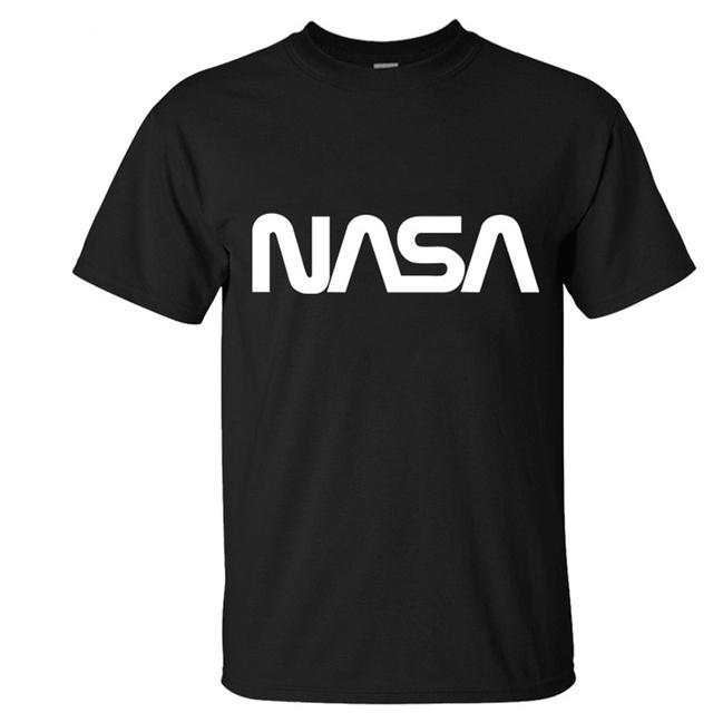 Nasa camiseta hombres 2017 aeronautica militare hombres camiseta casual homme carta impresión de algodón camisetas de manga corta marca clothing t336