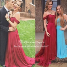 Burgundy Long Elegant Prom Dresses 2017 Sweetheart Neck Cap Sleeve Pleated Chiffon A-line Cheap Floor Length Gowns
