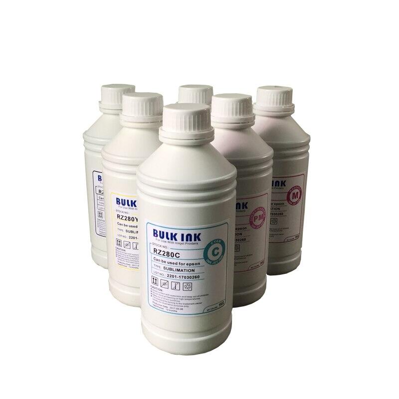 Новое поступление сублимационных чернил 6 бутылок/1000 мл для принтеров Epson машина для теплопередачи термопресс сублимационная машина