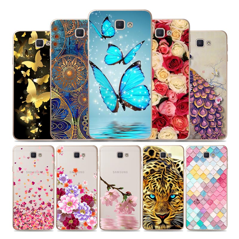 Geruide Case 5 0 inch For Samsung Galaxy J5 Prim Case Soft TPU pintado telefono caso for Samsung J5 Prime G570 G570F cases in Phone Bumpers from Cellphones Telecommunications