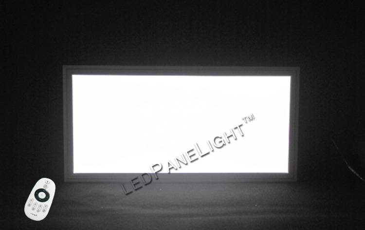 Free Shipping New Size 300x600mm 24W Color adjustable and dimmable LED Panel light With Remote Control Silver color frames
