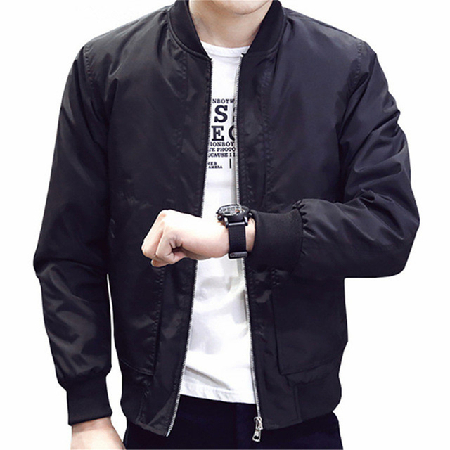 e099e23b5 2019 New Bomber Jackets Men Autumn Spring Hot Sale Thin Mens Jackets And  Coats Quality Slim