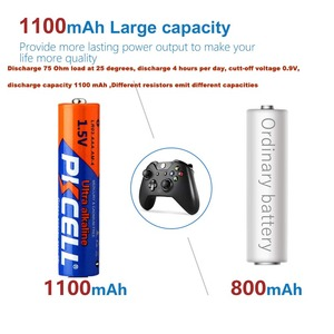 Image 4 - 60PCS PKCELL Battery LR03 1.5V AAA  Alkaline Battery 3A AM4 Single Use Battery for Electronic thermogun