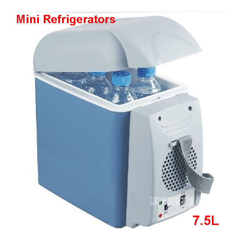 Portable 12V 7.5L Auto Mini Fridge Auto Travel Hold Cool Food Quality Refrigerator ABS Multi-Function Cooler Freezer Home Warmer