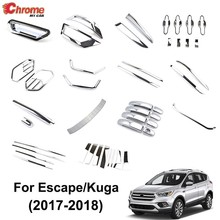 Voor Ford Escape Kuga 2017 2018 Chrome Voor Mistachterlicht Deurgreep Cover Body Molding Trim Protector Decoratie Auto styling(China)