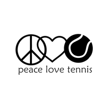 17*9CM Interesting Peace Love Tennis Player Decor Car Sticker Vinyl Silhouette Accessories Bumper Window Decals 7 5 12 5cm alien peace sign we come in peace body car sticker fun personalized car stickers motorcycle decals ct 806