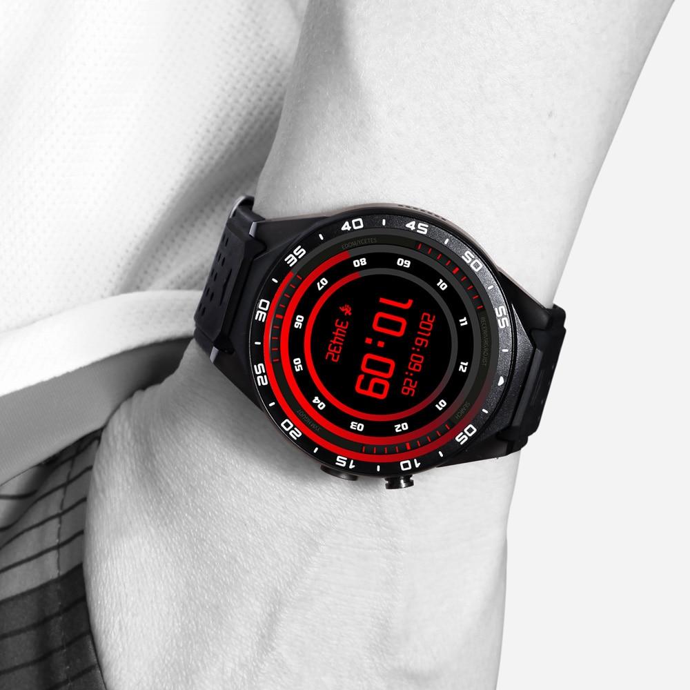 Kingwear KW88 3G WCDMA Smartwatch Phone UHD AMOLED MTK6580 Quad-core Android 5.1 OS 2.0 MP Smart Watch 1.3GHZ ROM 4GB RAM 512MB цена