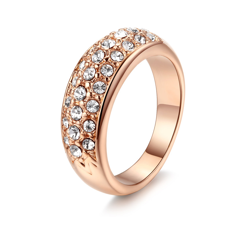 Vintage Anillos Mujer Bague Rose Gold 585 Color Rings For Women Wedding Zircon Jewelry Bijoux Aros Anel Feminino QK007