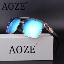 AOZE caliente-venta steampunk doble haz gafas de sol hombres Mujeres retro cuadrado MACH protección UV400 gafas de sol de Alta calidad