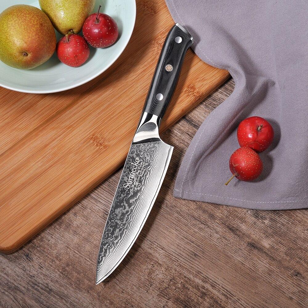 2018 Sunnecko Premium 6.5 Couteau de Chef Japonais VG10 Noyau En Acier Lame G10 Poignée avec En Acier Inoxydable Damas Cuisine couteaux