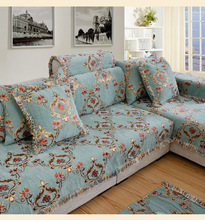 Four seasons universal sofa cushion, bedroom fabric simple cotton cushion