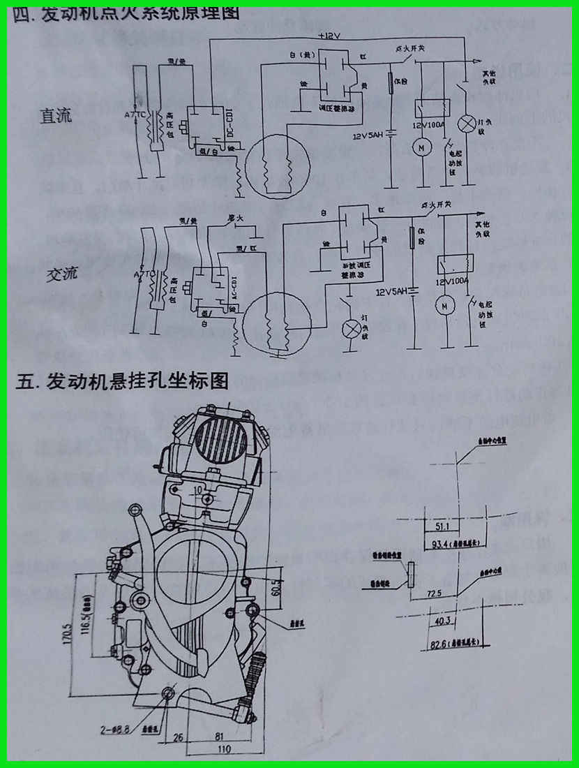small resolution of  125cc lifan engine 4 stroke kick start manual clutch dirt bike motorbike