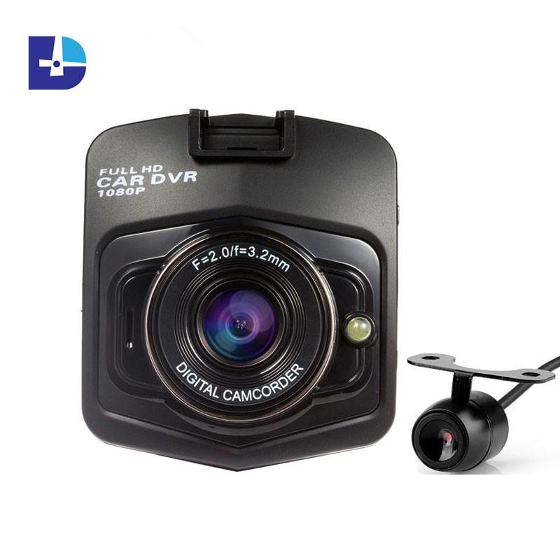 imágenes para Nuevas GT300 Novatek lente Dual Del Coche DVR 1920*1080 p Grabador de Vídeo Visión Nocturna Auto Dash cam Kamera Veicular DVRs G30 dos cámaras