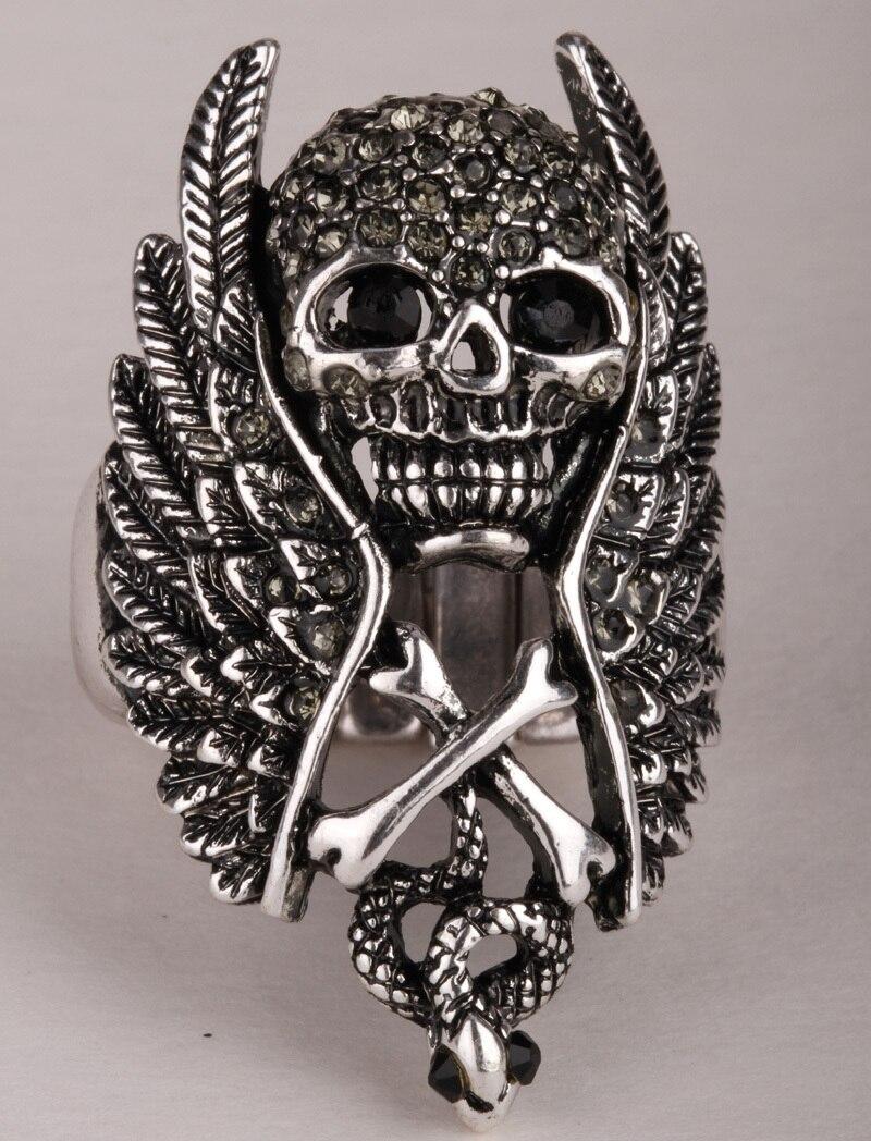 череп кольца для женщин