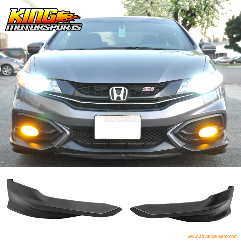 For 2014 2015 Honda Civic 2DR Coupe HF-P Front Bumper Lip Splitter - PUFor 2014 2015 Honda Civic 2DR Coupe HF-P Front Bumper Lip Splitter - PU