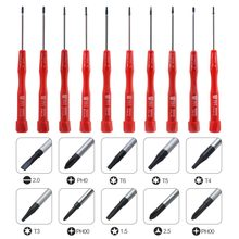 10 in 1 Precision Screwdriver Pentalobe T-Type Phillips Flatted for Samsung Huawei OPPO Mobile Phone Tablet PC Repair Tool Set(China)