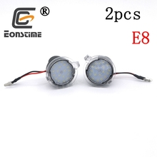 купить Eonstime 2pcs Car 18LED Under Side Mirror Puddle Light bulb lamp For Ford Mondeo Edge Explorer Taubus F-150 Heritage S-Max 2015 дешево