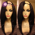 GQ Long Silky Straight bob upart Wig Brazilian Virgin u part human hair wigs Straight U Part bob Wig All Length In Stock 130%