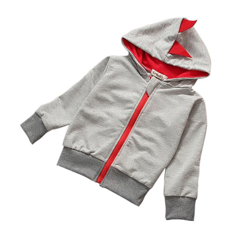 Fashion Spring Autumn Baby Girls Boys Cartoon Jacket Kids Hoodies Dragon Design Outwear Coats Baby Clothes