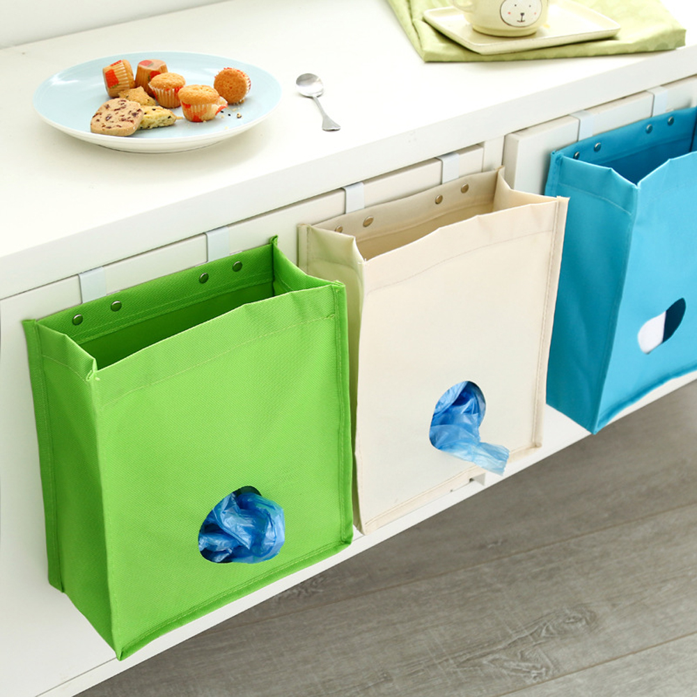 Kitchen extract garbage bags storage bag cabinets Oxford cloth bag ...