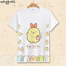 WHOHOLL Animal Print Sumikko Gurashi Summer Tshirts Clothes Shirts Femme Casual Tshirt Sumikkogurashi Tee Streetwear Camiseta