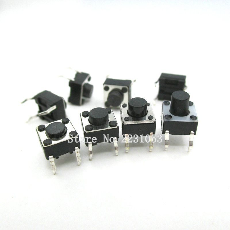 100PCS/Lot 6*6*4.3mm Tact Switch Push Button DIP 4 Pin Tactile Push Button LCD Screen Monitor 6X6X4.3MM Micro Switch New