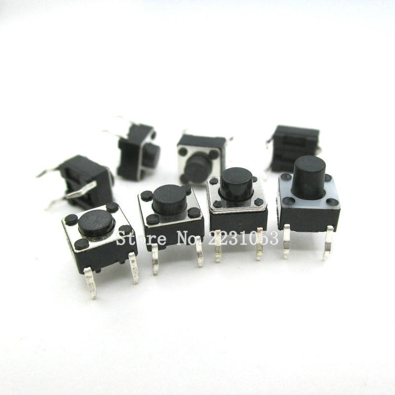 100PCS/Lot 6*6*4.3mm Tact Switch Push Button DIP 4 Pin Tactile Push Button LCD Screen Monitor 6X6X4.3MM Micro Switch New