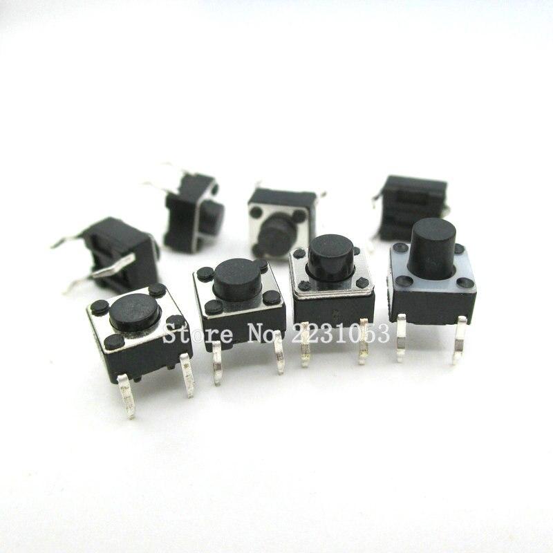 Botão interruptor tático, botão interruptor de pressão tático dip, 4 pinos, tela lcd, botão de pressão tático, 6*6*100mm, pçs/lote monitor «micro switch novo