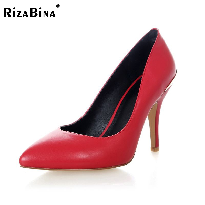 women real genuine leather stiletto pointed toe high heel shoes sexy fashion brand pumps ladies heeled shoes size 34-39 R5588 new 2017 spring summer women shoes pointed toe high quality brand fashion womens flats ladies plus size 41 sweet flock t179