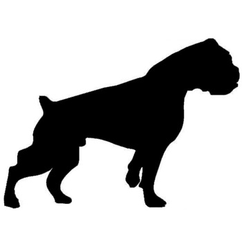 15.2*10.9CM Boxer Dog Vinyl Decal Car Cover Scratches Animal Cartoon Stickers Black/Sliver C6-1013 image