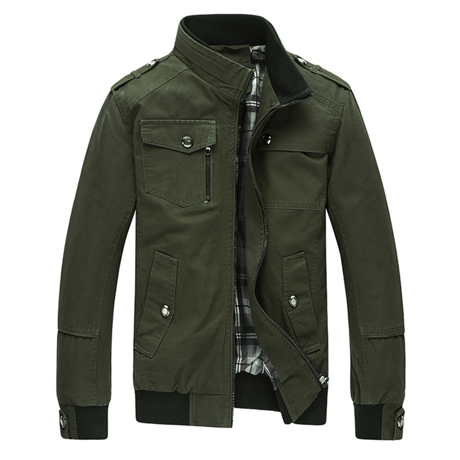 Men Jacket Jean Military Plus Size 4XL Army Soldier Cotton Air Force One Male Clothing Spring Autumn Mens Jackets Asian Size