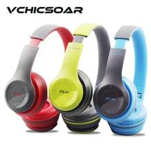 VCHICSOAR Auriculares Bluetooth Inalámbricos Plegables Portátil Auricular con Micrófono de Alta Fidelidad Estéreo Bajo Pesado Auriculares para PC Teléfono Móvil