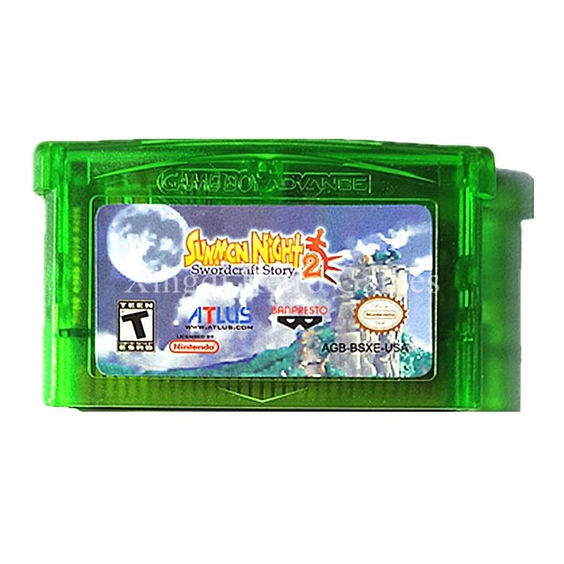 Nintendo GBA Game Summon Night 2 Swordcraft Story Video Game Cartridge Console Card US English Language