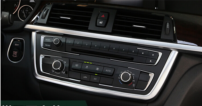Car 5pcs ABS Center Control +Button Strip Trim For BMW 3 Series F30 316i 2013 2014 2015 полуось на bmw 316i в беларуси