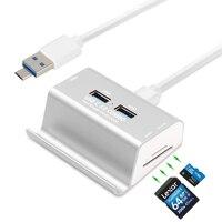2 In 1Micro USB OTG Hub 3 Ports USB 3 0 Hub SD TF Card Reader