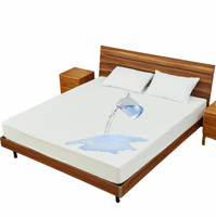 100% Waterproof Cotton Terry Fabric Mattress Protector In Mattress Covers & Grippers and Breathable Fitted Sheet Style Bedspread