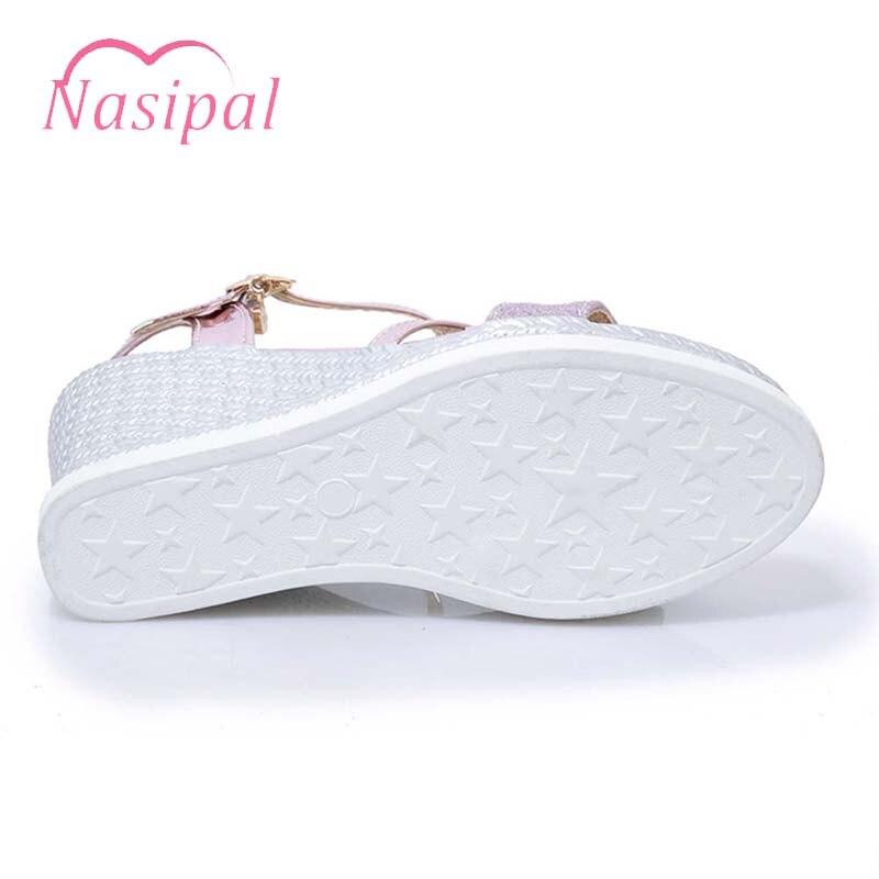 Argent Plate Or 2018 Gladiateur Chaussures C712 Nasipal Sandalais forme D'été Cale Ouvert Mujer Zapatos Femme À Rome Or De argent Feminino Bout Sandales rose YU7qUHW