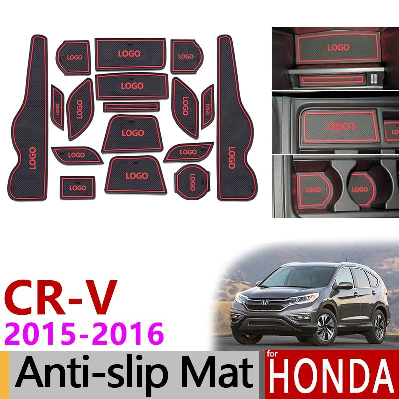 Противоскользящий резиновый коврик для ворот для Honda CR-V CRV 2015 2016 4th Gen facelift CR V аксессуары Автомобильные наклейки 2,0 2,4 2.4L