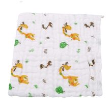 24*19cm 6 Layers Soft Cotton Towel Set For Newborn Baby Bath Towel Children Handkerchief Cartoon Pattern Towel Bib For Baby(China)